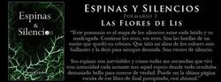 Las Flores de Lis3 Espinas&Silencios
