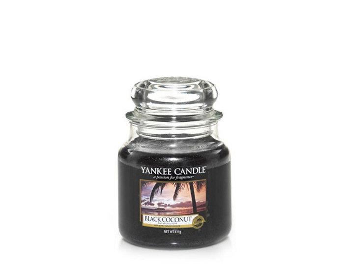 Bougie Yankee Candle - Noix de Coco Noire