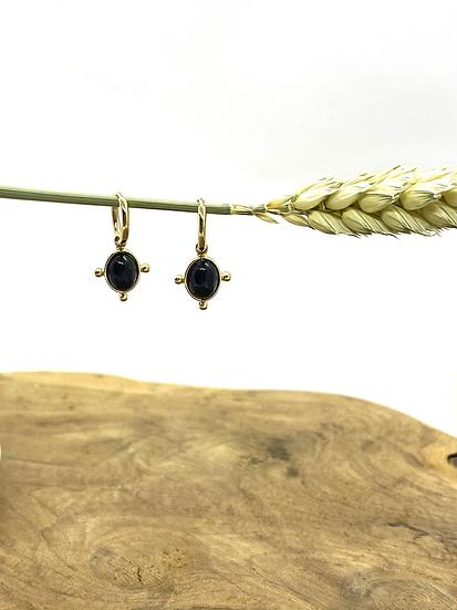 Boucles d'oreilles, Onyx - ZAG Bijoux
