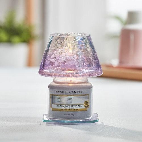 Yankee Candle SAVOY CRACKLE GLASS - Abat-Jour Petit Modèle