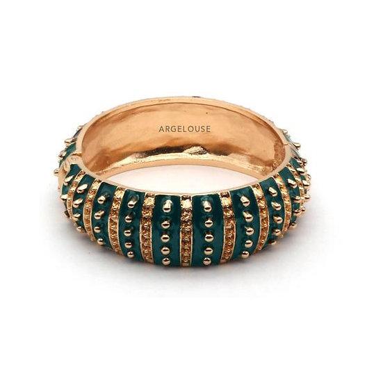 Bracelet Amok Large Pois  - Vert