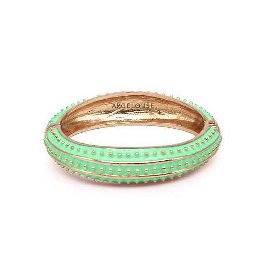 Bracelet Amok Pois - Vert d'Eau