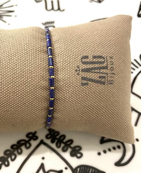 Bracelet avec perles en Lapis Lazuli - ZAG Bijoux