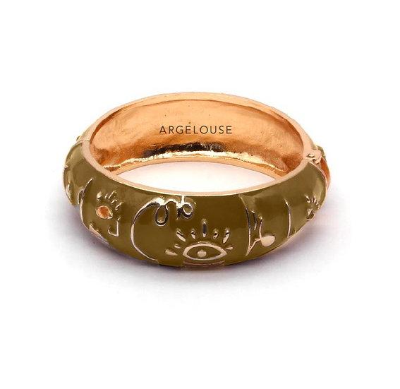 Bracelet Amok Large Abstrait  - Camel