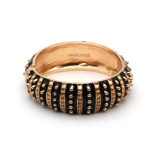 Bracelet Amok Large Pois  - Noir