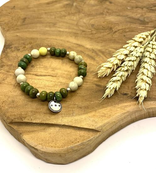 Bracelet en pierres semi-précieuses, Shabada