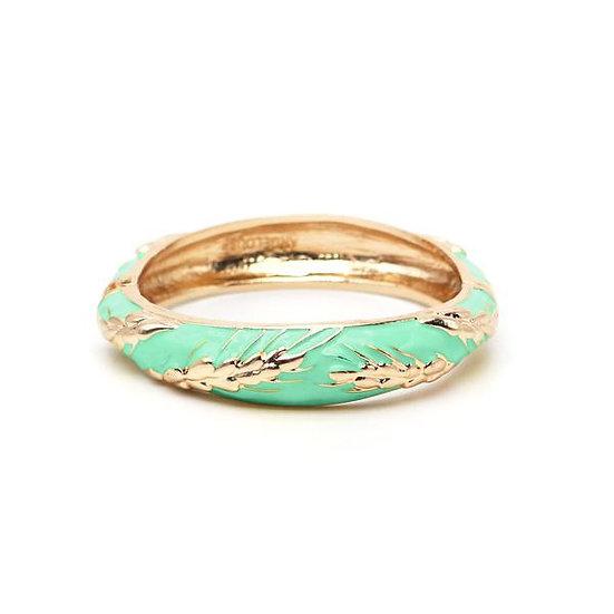 Bracelet Amok Épi de Blé - Vert d'Eau