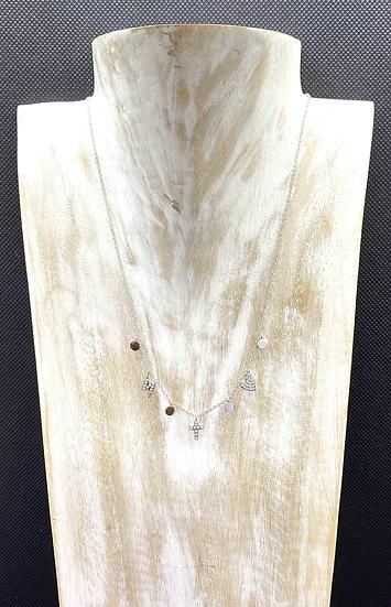 Collier Eclair, Croix, Coeur et Zirconiums - ZAG Bijoux