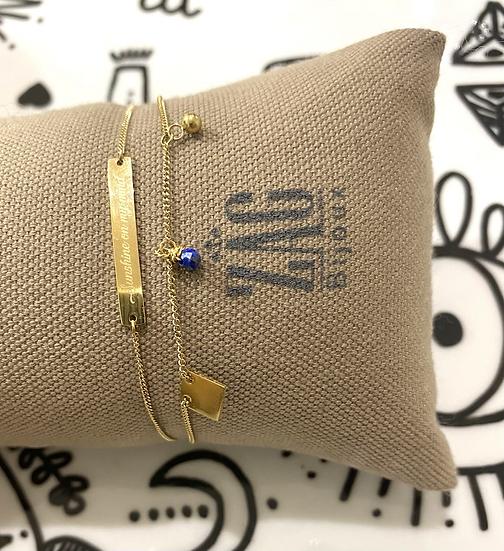 Bracelet double Sunshine on my mind, Lapis Lazuli  - ZAG Bijoux