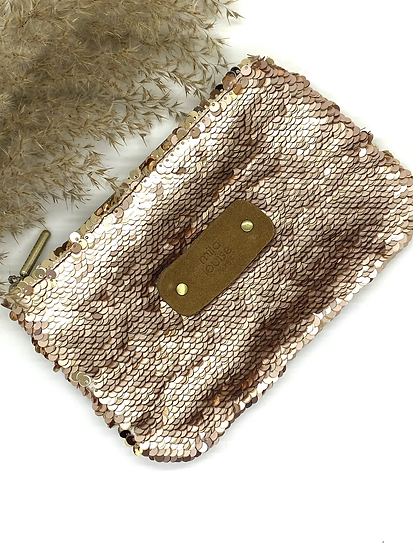 Pochette PM Scale, Or Rose - Mila Louise