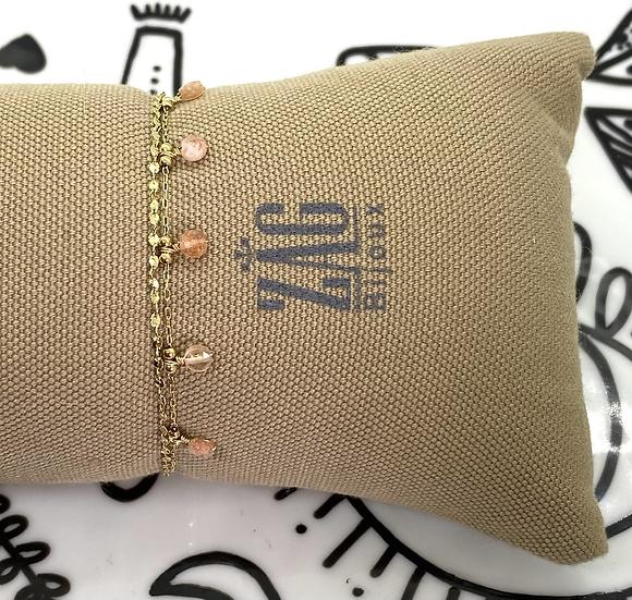 Bracelet double, Pierre de Lune  - ZAG Bijoux