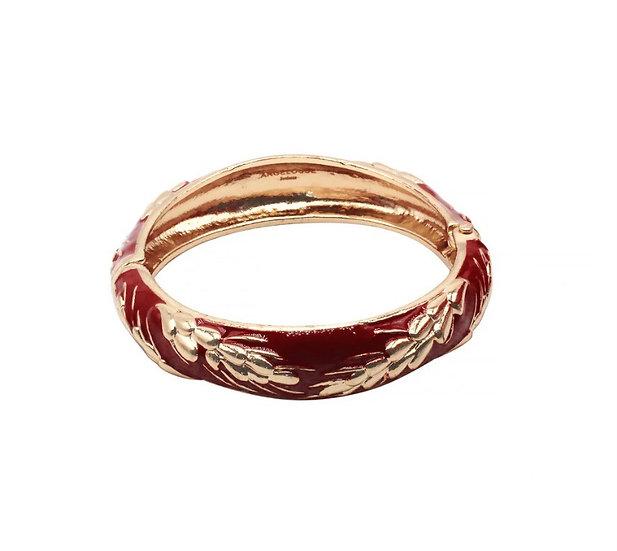 Bracelet Amok Épi de Blé - Rouge
