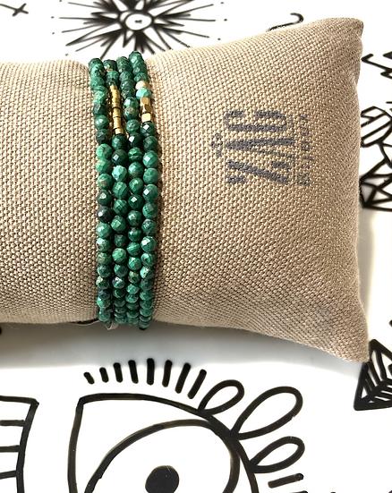 Bracelet double-tour, malachite - ZAG Bijoux