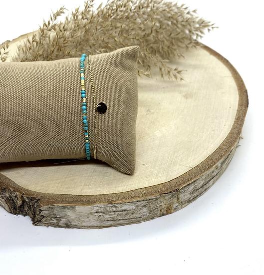 Bracelet double lien, Turquoise - ZAG Bijoux