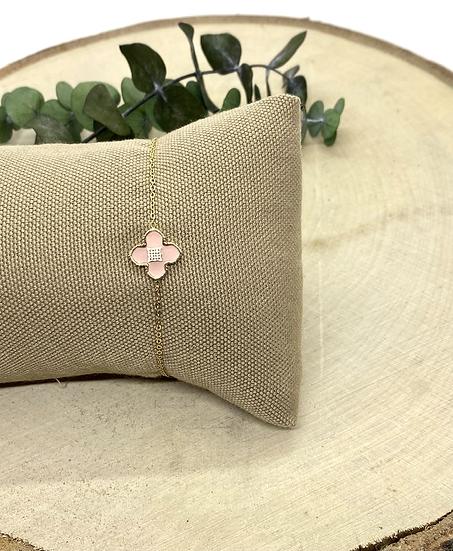 Bracelet Trèfle Rose - ZAG Bijoux