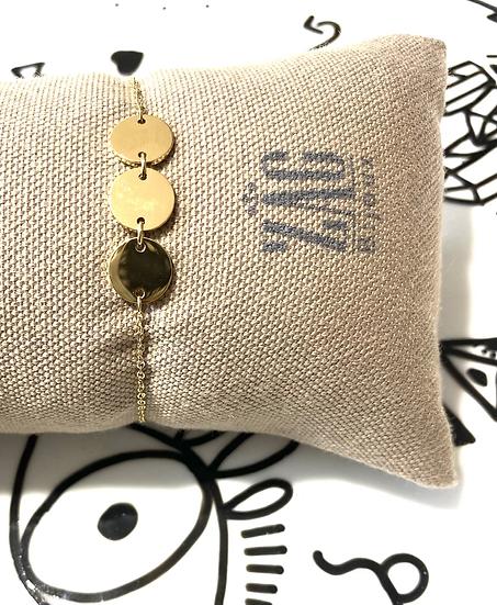 Bracelet chainette avec pastilles - ZAG Bijoux