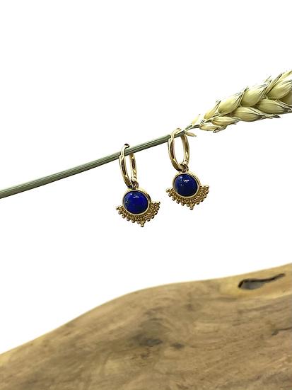 Créoles, Lapis Lazuli - ZAG Bijoux
