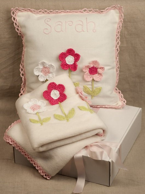 Pink Flowers Nursery Set