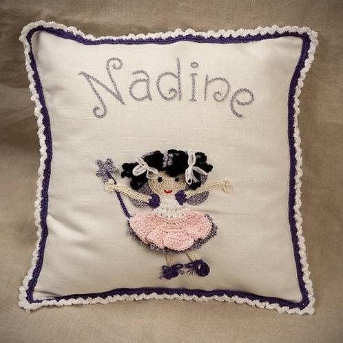 Purple Ballerina Cushion