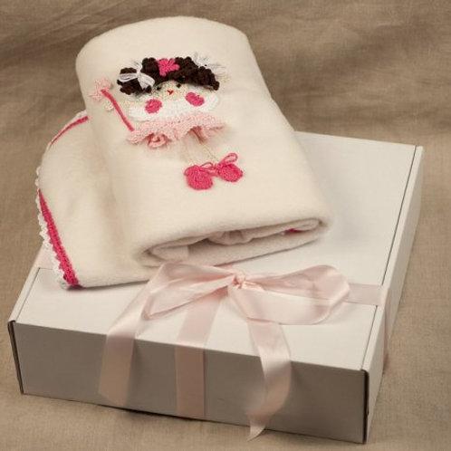Cheeky ballerina baby blanket