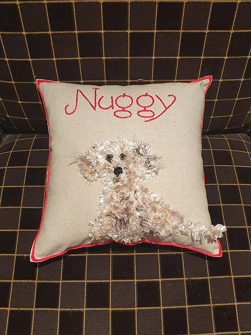 Personalised Dog Cushion , Dog Nursery Theme , Dog Lovers Baby Cushion