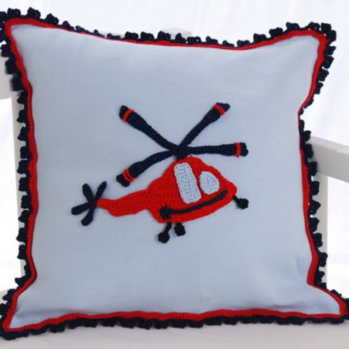 Helicopter Baby Cushion