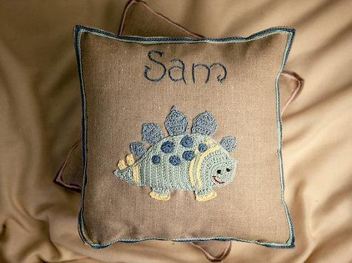 Blue Dino cushion