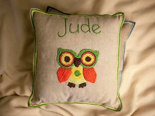 Forest Owl Baby Cushion