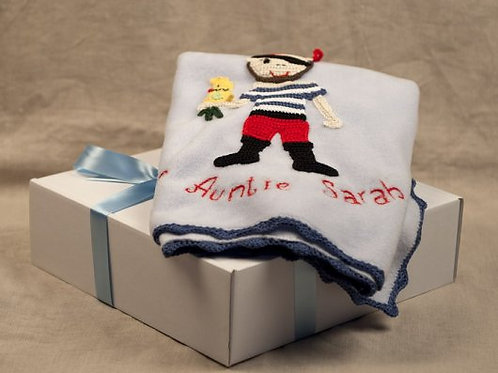 Pirate blue baby  blanket