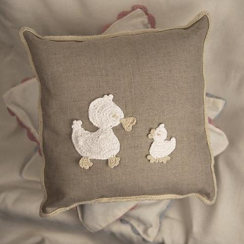 Off-white ducks baby cushion