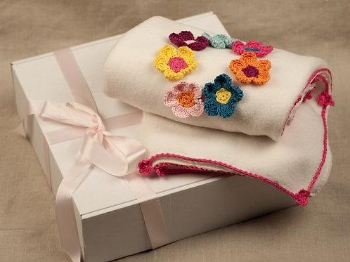 Olivia Flowers baby blanket
