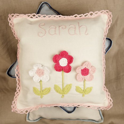 Pink Flowers Baby Cushion