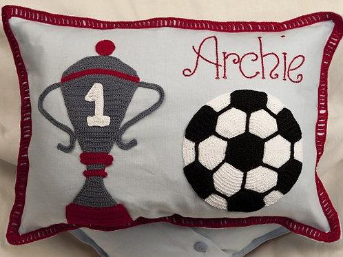 I love football Baby Cushion
