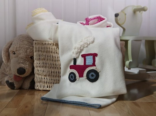 Joshua Tractor  baby blanket