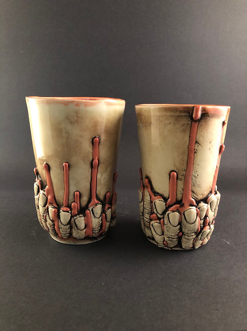 Set of surrealist tumblers made to order
