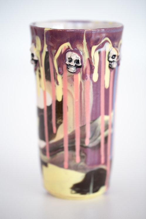 Graffiti skull tumbler