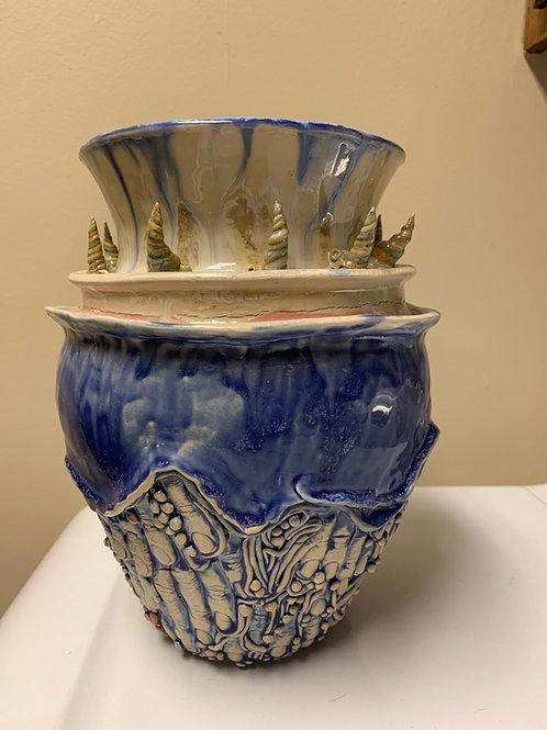 Large horned vase