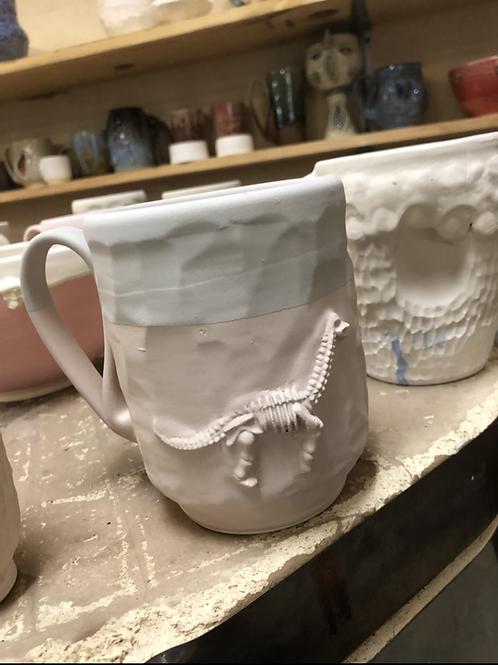 Dinosaur fossil mug set