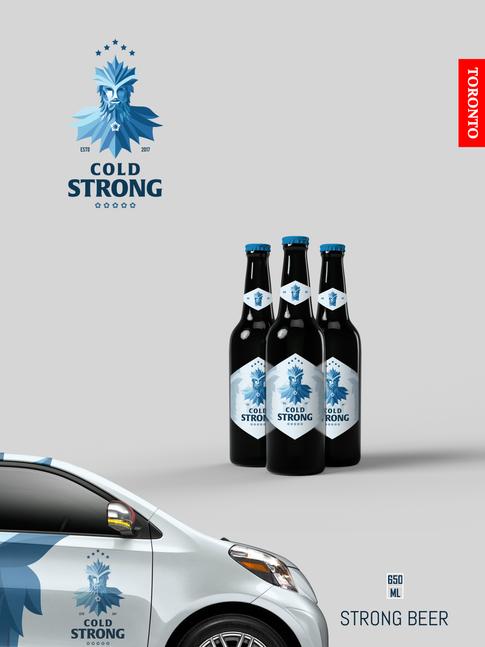 Cold Strong 12x16 Poster V7 Car&3Bottle.png