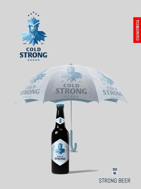 Cold Strong 12x16 Poster V8 Umbrella & Bottle.png