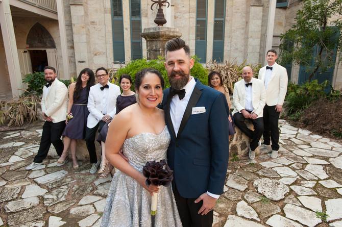 Wedding photos in downtown San Antonio