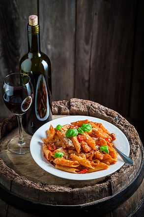 Tasty spaghetti bolognese with parmesan