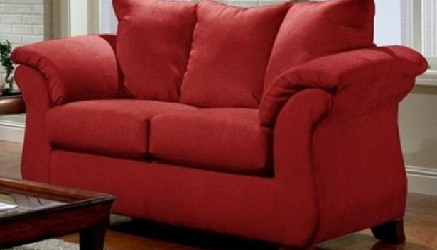 Brick Red Couch