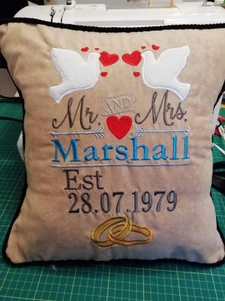 Anniversary Cushion - Great Valentines gift!