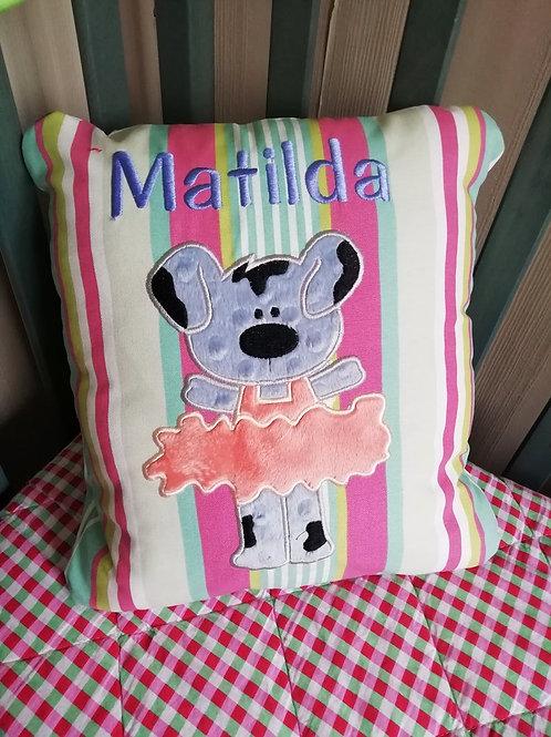 Cushion + Name & Animal