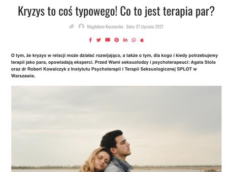 Kryzys to coś typowego! - Stola i Kowalczyk o terapii par, dla Ery Nowych Kobiet