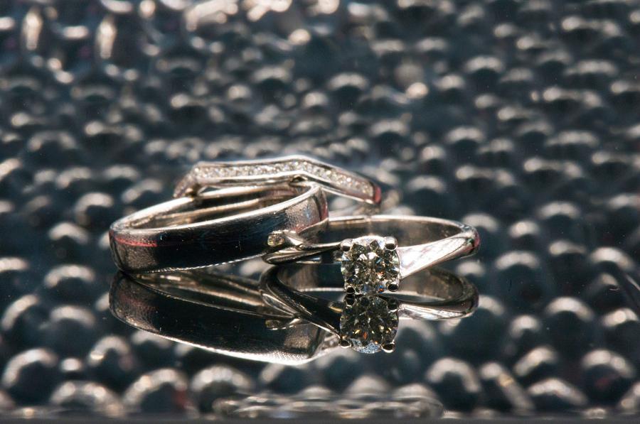 Wedding ring shot from the bridal prep