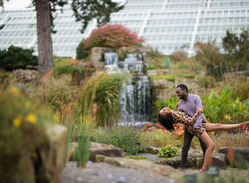 Kew Gardens Engagement Shoot | Nyasha and Martin | London Photographer