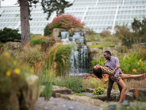 Kew Gardens Engagement Shoot | Nyasha and Martin | London Photographer