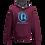 Thumbnail: Rejuvenation Burgundy & Blue Hoody - ® Logo
